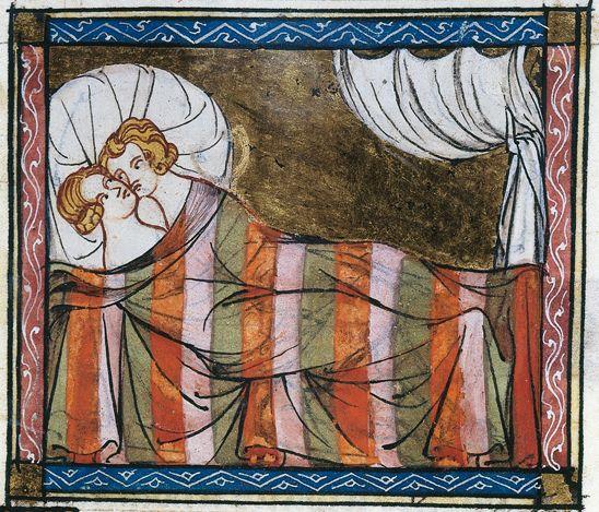 Roman de la Rose, Due amanti, Musée Condé, Chantilly