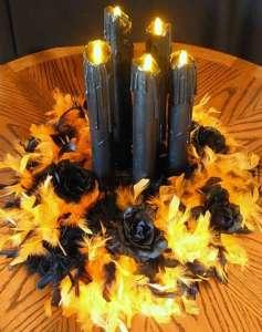 centrotavola-con-candele-nere