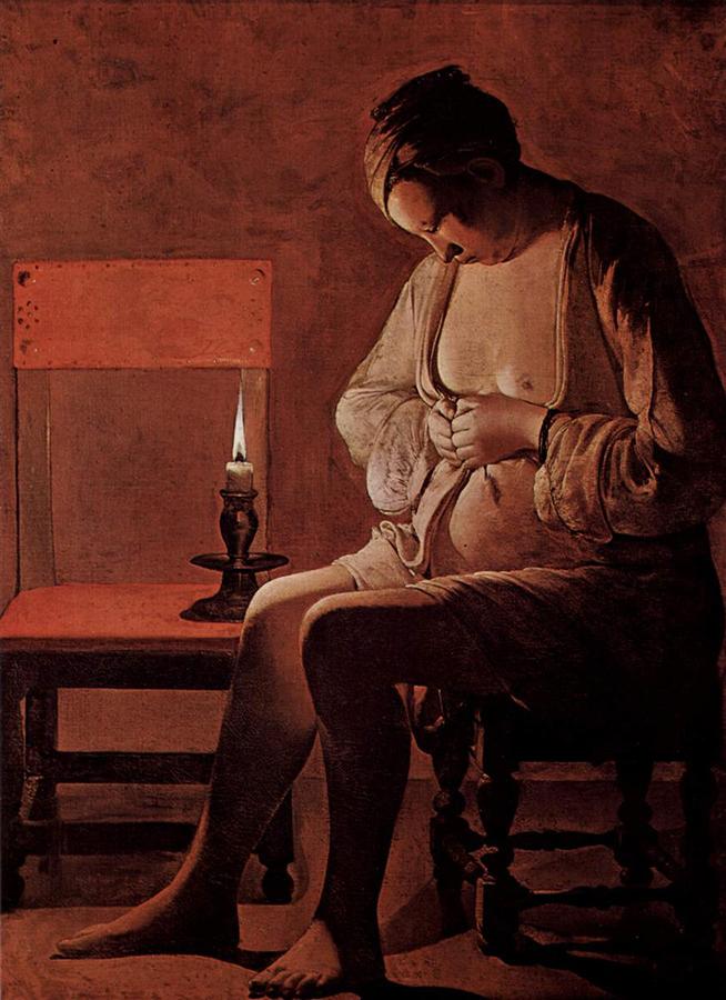 George de La Tour, Donna che si spulcia
