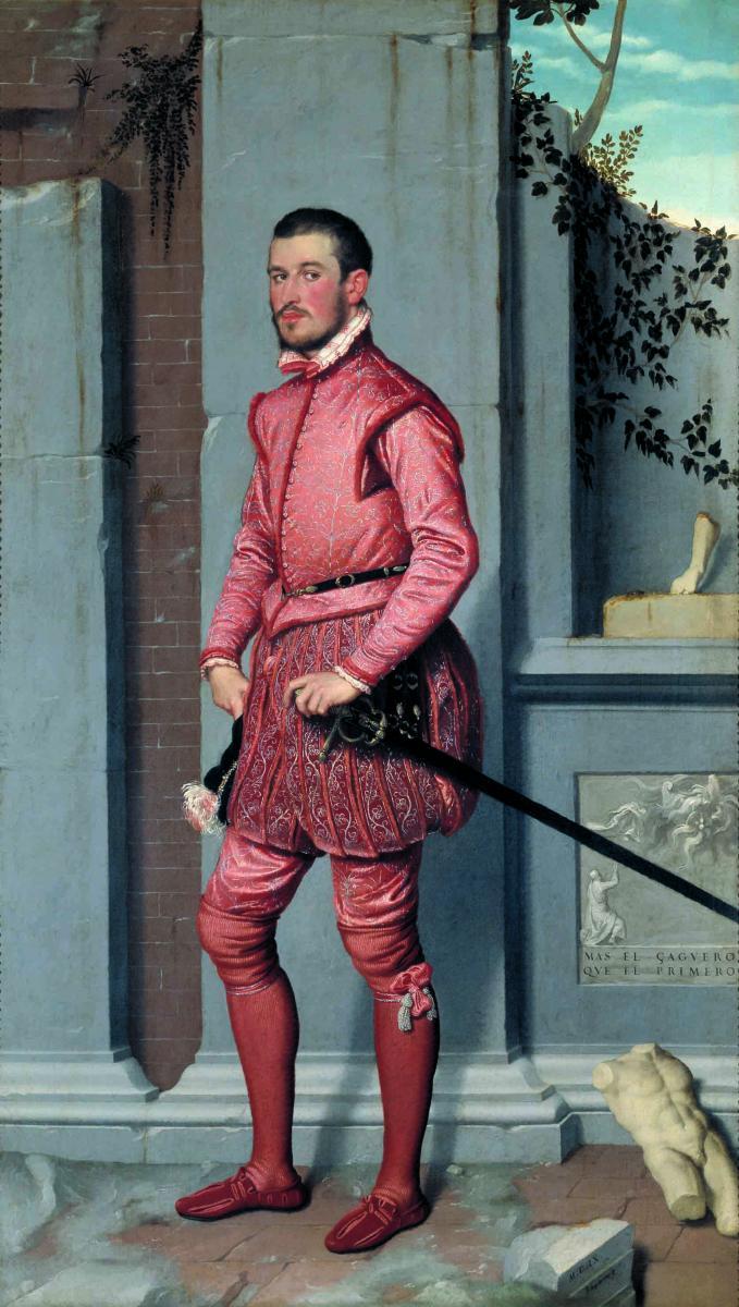 Giovan Battista Moroni, Il cavaliere in rosa. Braghesse alla sivigliana