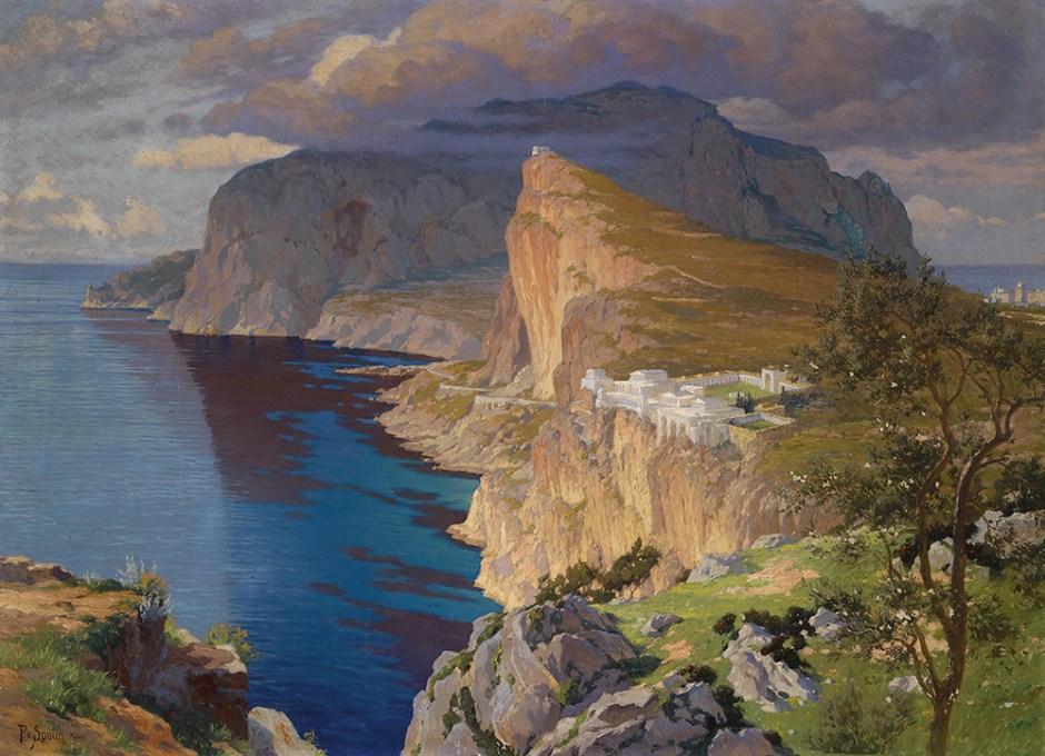Paul von Spaun,  ricostruzione della villa di Tiberio a Capri