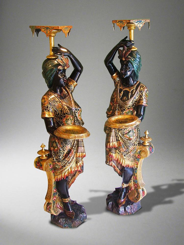 Moretti reggicandelieri, XVIII secolo