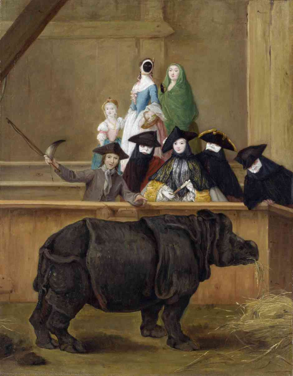 Pietro Longhi. Il rinoceronte