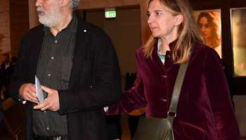Francesco Piccolo con sua moglie Gabriella D'Angelo.
