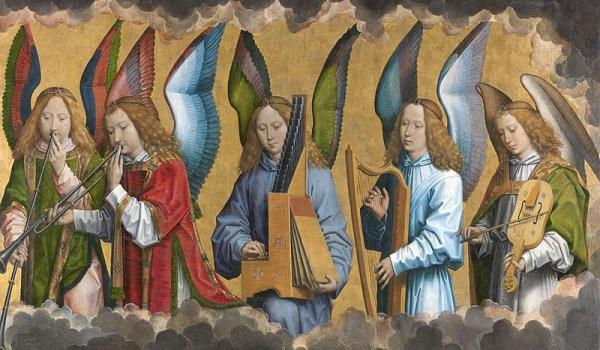 Hans Memling_angeli musicanti