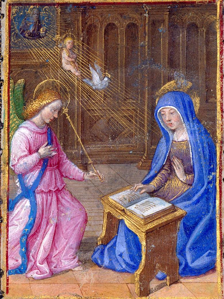 Libro d'Ore di Anna-di-Bretagna. Annunciazione