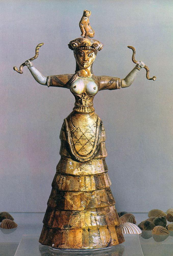 La Dea dei Serpenti, arte cretese