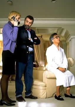 Una scena del film con D. Hoffman e R. De Niro