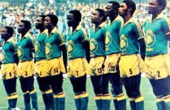 Lo Zaire ai Mondiali in Germania nel 1974
