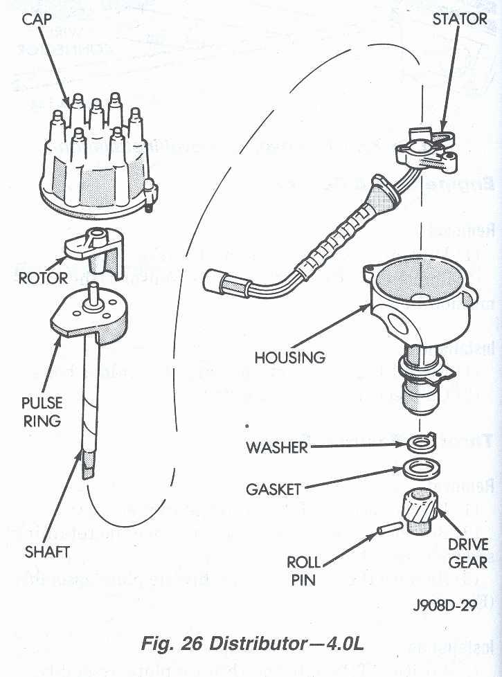 engine wiring grounding wire crankshaft position sensor