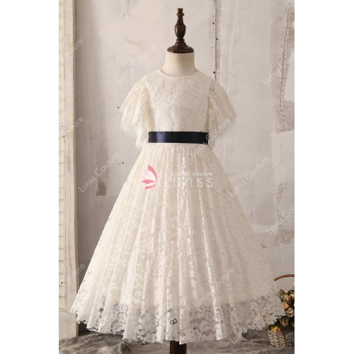Medium Crop Of Lace Flower Girl Dresses