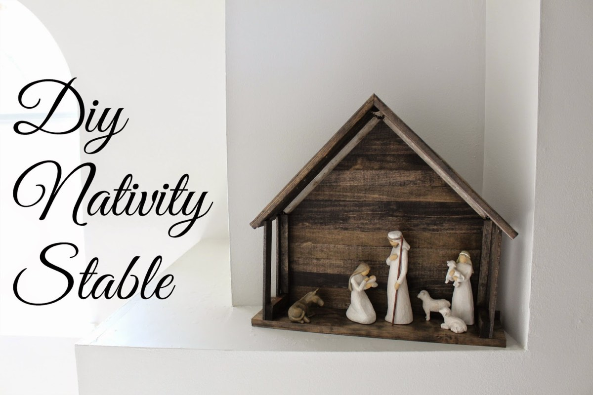 DIY Nativity Stable for Willow Tree Nativiy