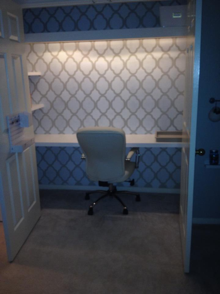 DIY Office Closet Desk, An Organized Cloffice Space