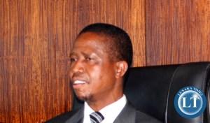 Home Affairs Minister Edgar Lungu