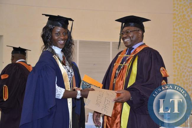technician level graduate Getrude Chileshe during the 7th ZICA