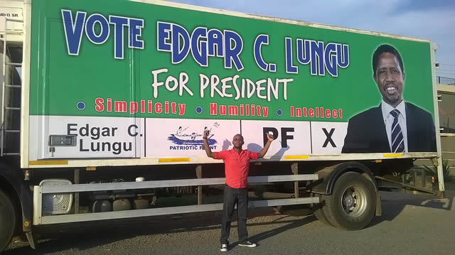 PF pledges not to use Government machinery in Edgar Lungu's campaigns