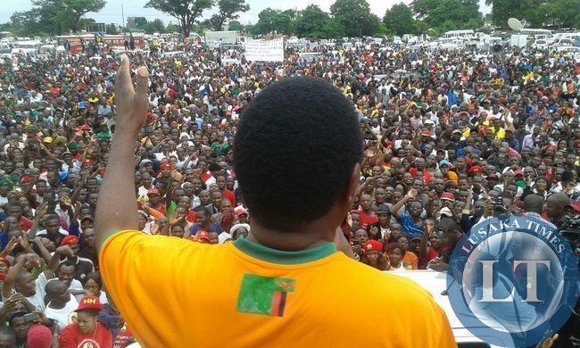 HH addressing the rally at Woodlands Stadium