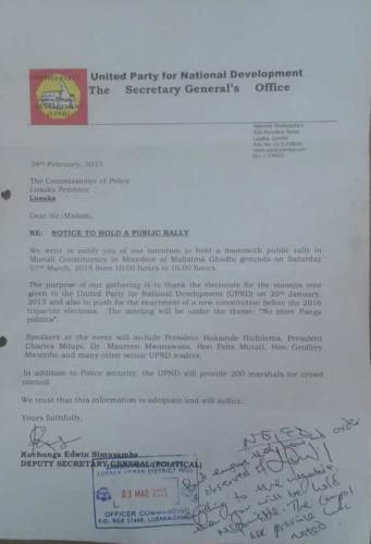 UPND to hold thanksgiving rally in Mtendere tomorrow