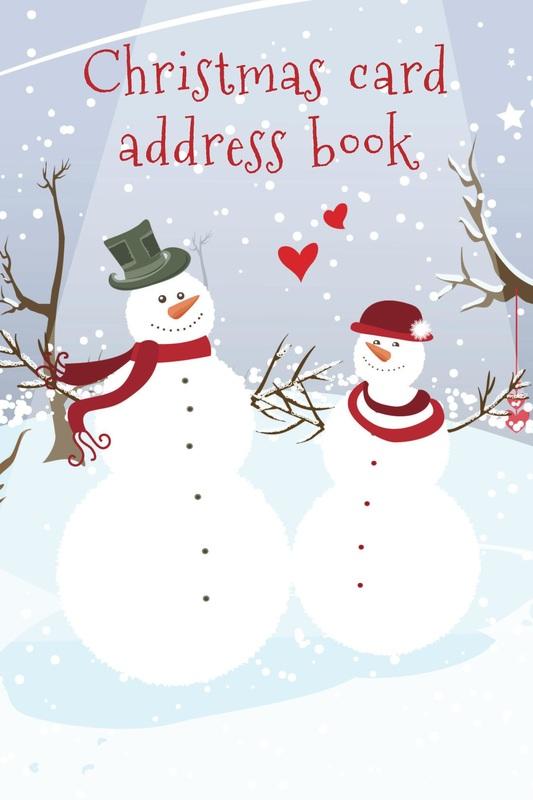 Christmas card address books - Luscious Books - how to address christmas cards