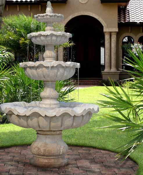 water fountains front yard and backyard designs