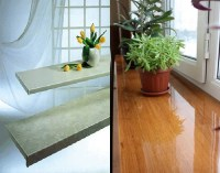 Window Designs, Modern Interior Window Sill Materials and ...