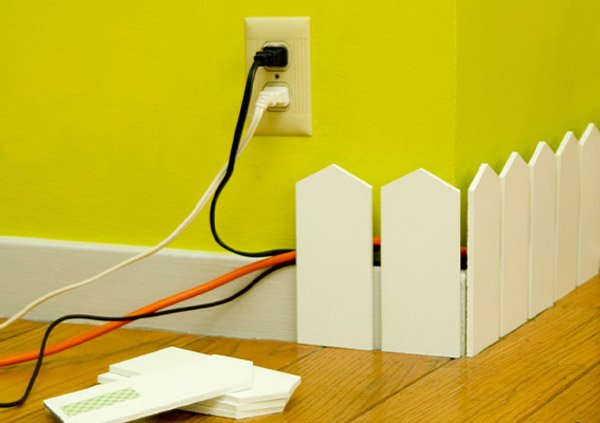 Creative Way to Hide Cables on Wall, Picket Fence from Karl Zahn