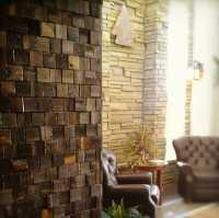 Reclaimed Wood Wall Tiles, Modern Wall Decorating Ideas