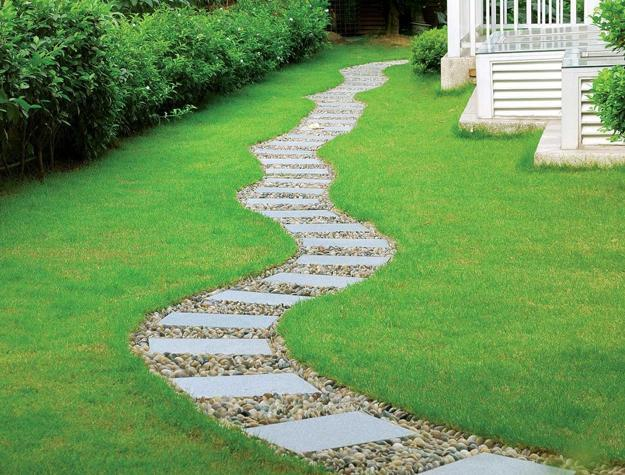 25 Yard Landscaping Ideas, Curvy Garden Path Designs to
