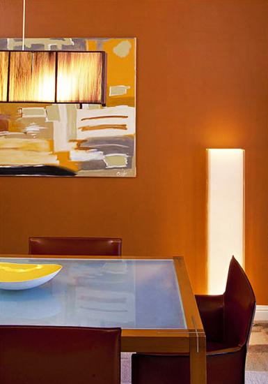 Cool Fall Wallpaper Modern Dining Room Decorating Ideas Orange Paint Colors