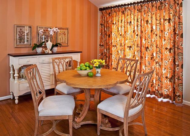 Fall Ceiling Wallpaper Modern Dining Room Decorating Ideas Orange Paint Colors