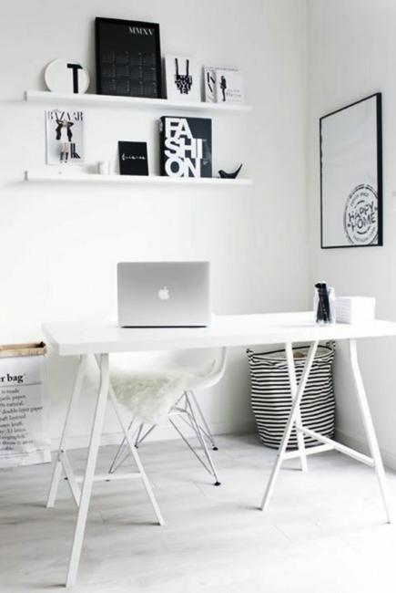 Black And White Wallpaper Bedroom Ideas Black N White Decorating With Color For Home Office