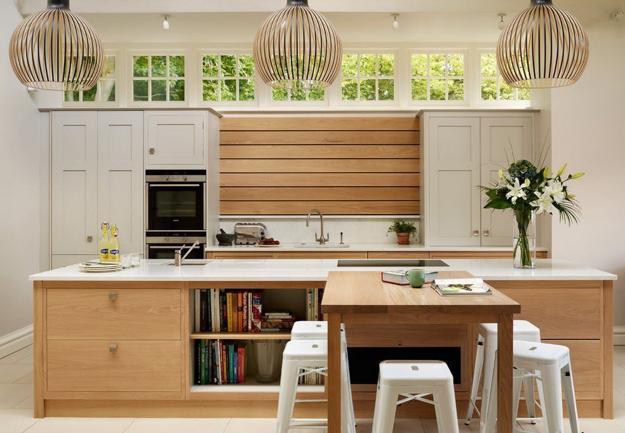 Fall Wood Wallpaper Wood Kitchen Walls Modern Kitchen Design Ideas