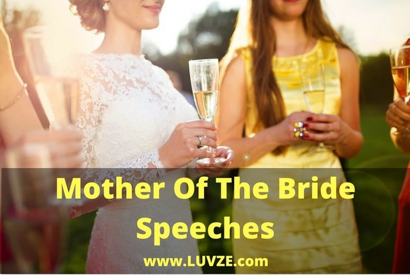 Mother Of The Bride Speeches 12 Thoughtful Examples