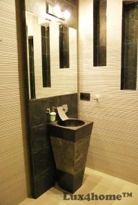 Marble black pedestal sink. Freestanding marble sinks ...