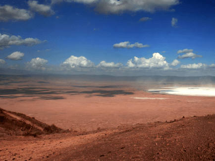 Crater Ngorongoro See Mans First Prints