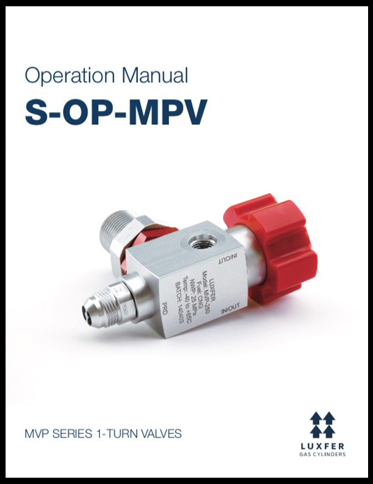 Operation Manual MVP Series 1-Turn Valves Luxfer Gas Cylinders