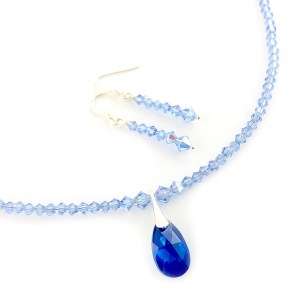 Swarovski crystal necklace and earrings set online uk