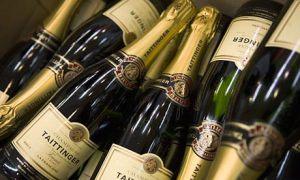 Bottles of Taittinger champagne