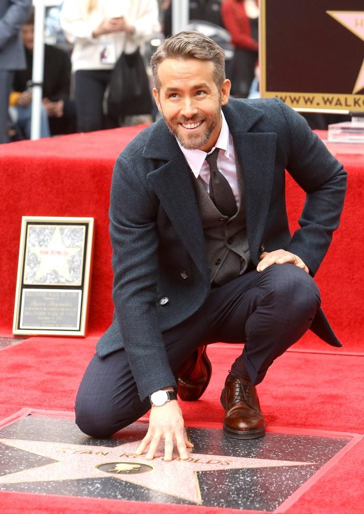 Ryan Reynolds laisse son empreinte éternelle sur le «Walk of Fame» d'Hollywood