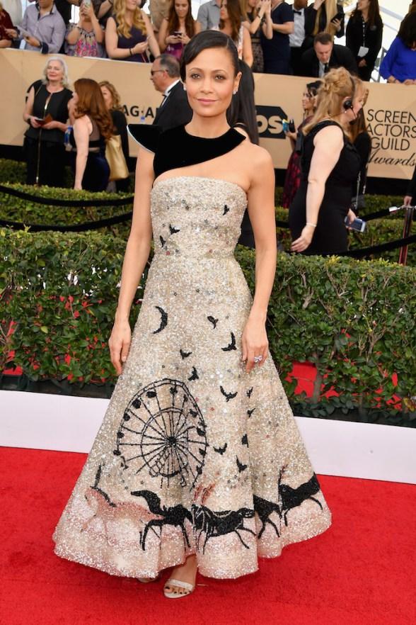 Thandie Newton en Schiaparelli Haute Couture à la cérémonie des SAG Awards