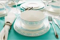 Bone china dinnerware set - Light Blue- Bone china product ...