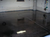 Acid Stained Concrete Floors & Countertops - Dunlap Garage
