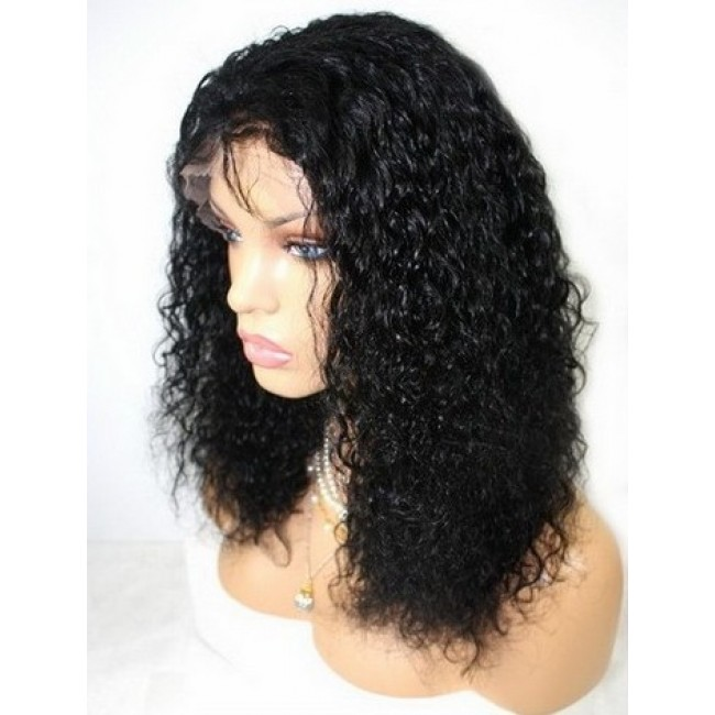 Curly Wig Indian Remy Human Hair \u2013 Luxury Lace Wigs Heaven