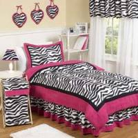 Zebra Twin/Full Bedding Set Girls Twin Bedding ...