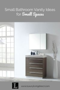 Small Bathroom Vanity Ideas for Small Spaces - Luxury ...