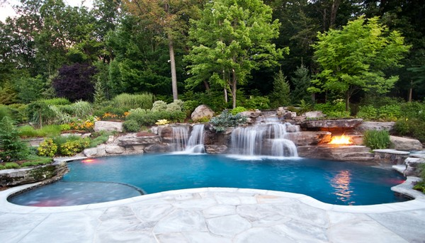 Luxury inground swimming pools by cipriano landscape for Custom inground swimming pools