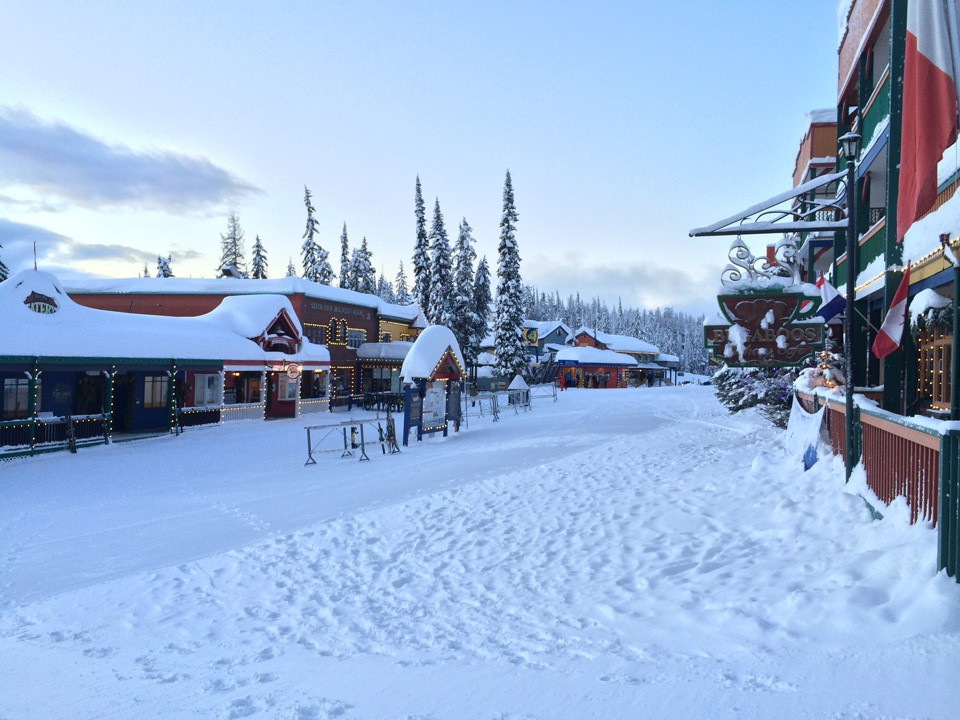 The village at Silver Star Mountain Resort, BC.