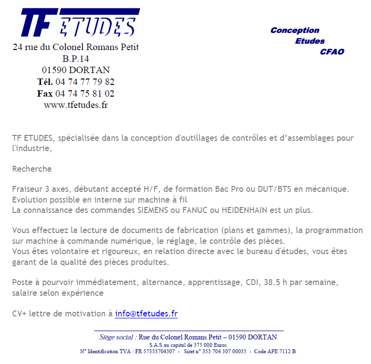 cv charge d'affaire professionnel
