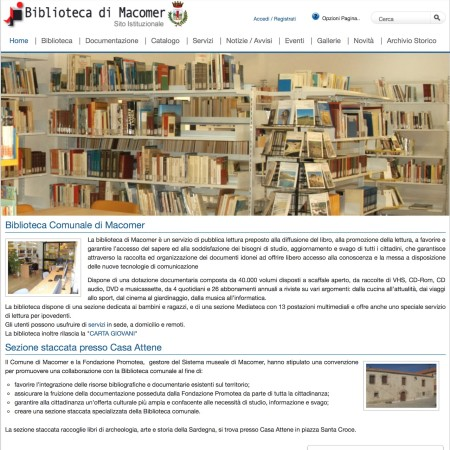 Biblioteca di Macomer - Website - by Lycnos