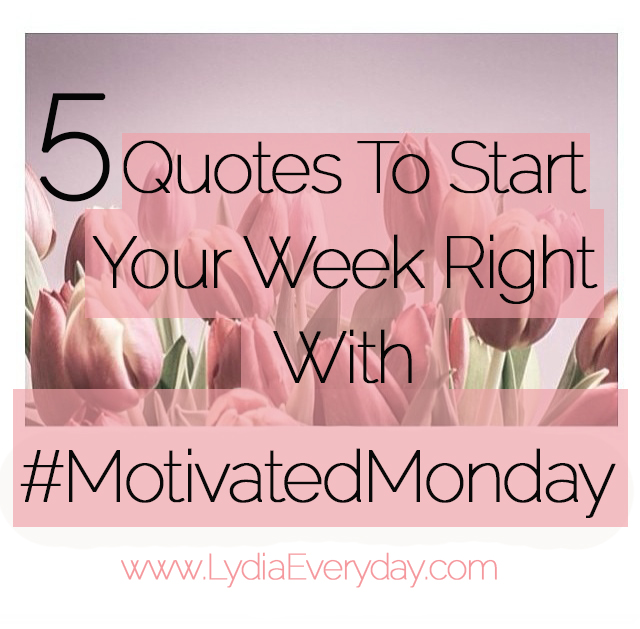 Starting my week right 3